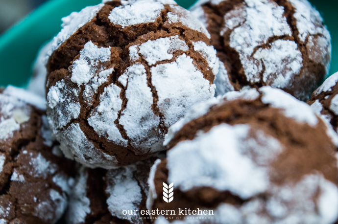 Our Eastern Kitchen - Simple Chocolate Crackle Cookies - Recipe - Food Photography