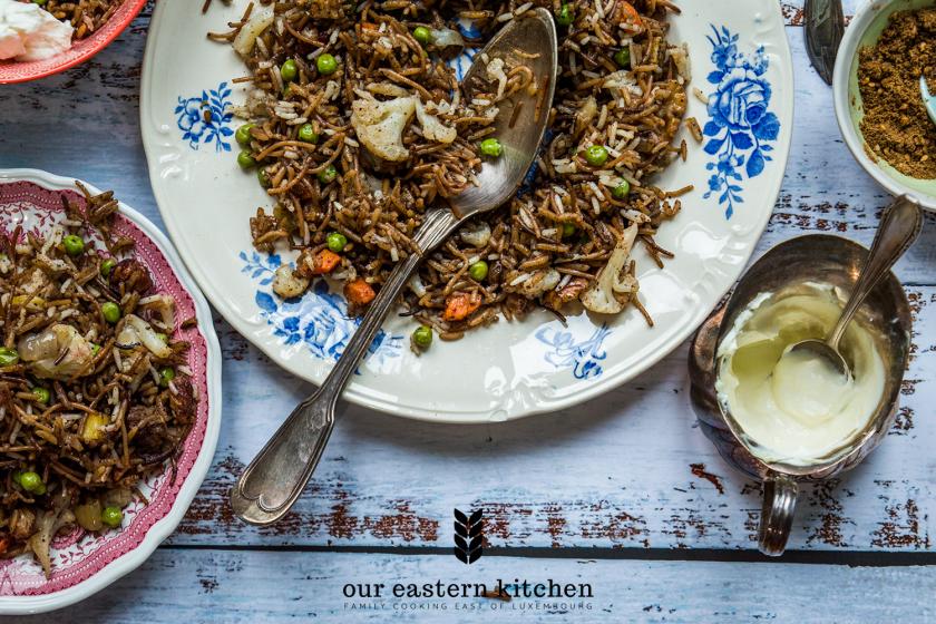 Our Eastern Kitchen - Vegetarian Iraqi Biryani - Recipe - Food Photography